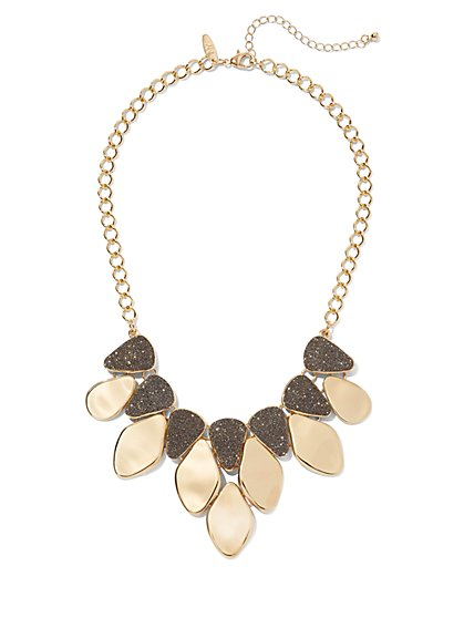 Goldtone Statement Necklace - New York & Company