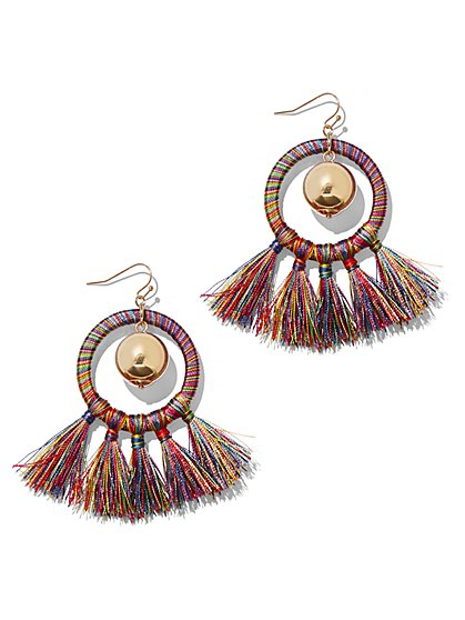 Goldtone Tassel Hoop Drop Earring - New York & Company