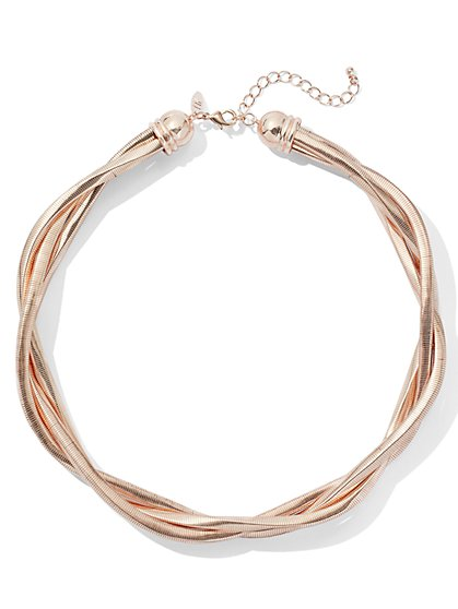 Goldtone Torsade Collar Necklace - New York & Company