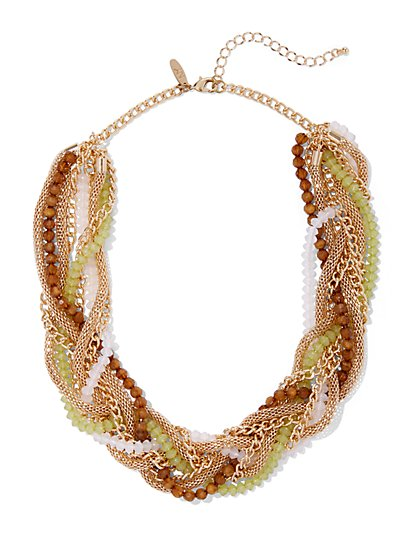 Goldtone Torsade Necklace - New York & Company