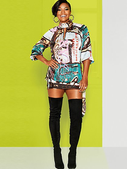 Graffiti-Print Shift Dress - Gabrielle Union Collection - New York & Company