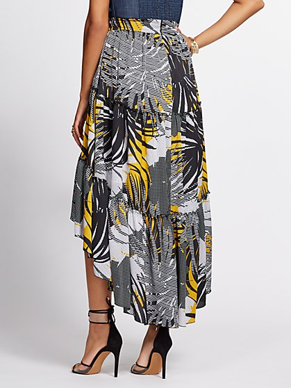 2ac8a72f6 ... Graphic-Print Hi-Lo Tiered Skirt - Gabrielle Union Collection - New  York &