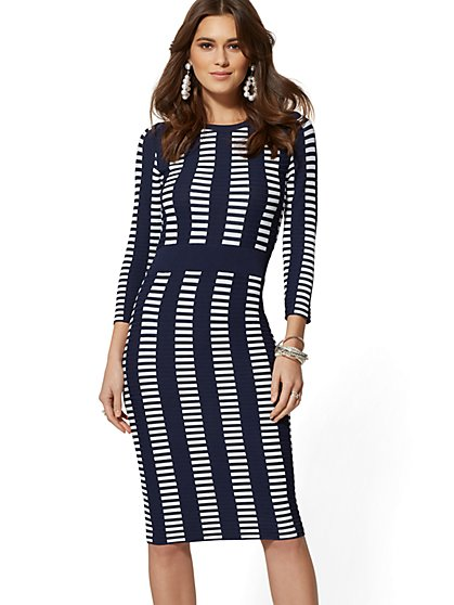 6aca8e2d655 Graphic-Print Sweater Sheath Dress - 7th Avenue - New York   Company ...