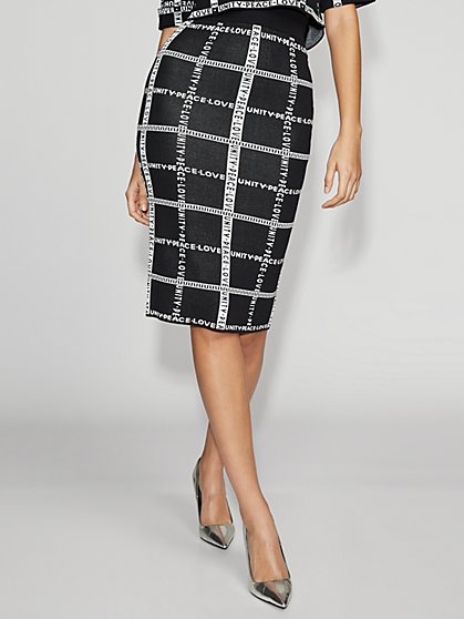 Graphic Sweater Skirt - Gabrielle Union Collection - New York & Company