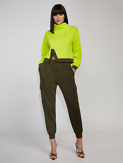Green Funnel-Neck Top - Gabrielle Union Collection - New York & Company