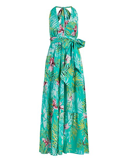 Green Halter Maxi Dress - New York & Company