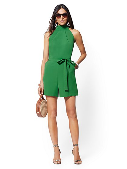Green Halter Romper - New York & Company