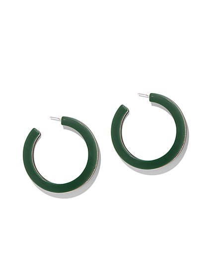 Green Hoop Earring - New York & Company