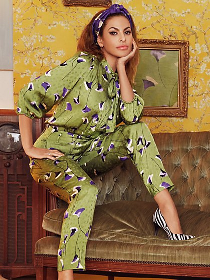 Green Isabella Bow Blouse - Eva Mendes Collection - New York & Company