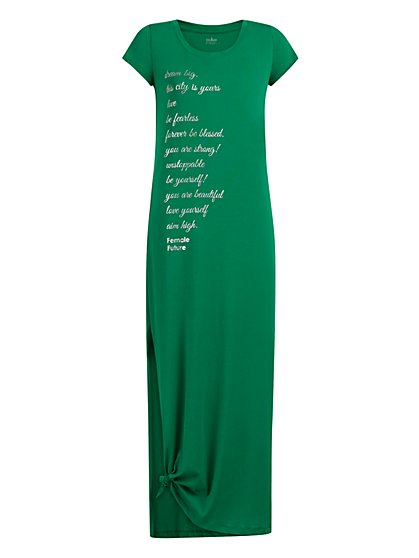 Green Maxi Tee Dress - New York & Company
