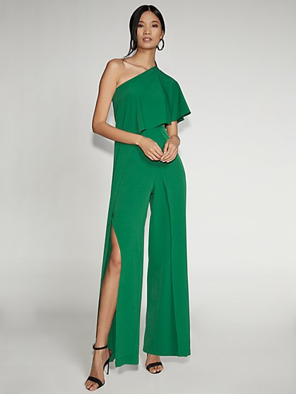 Green One-Shoulder Jumpsuit - Gabrielle Union Collection - New York & Company