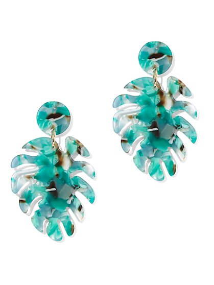 Green Palm Leaf Drop Earring - New York & Company