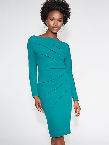 Green Seamed Sheath Dress - Gabrielle Union Collection - New York & Company