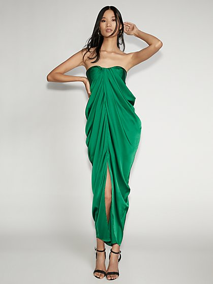Green Strapless Maxi Dress - Gabrielle Union Collection - New York & Company