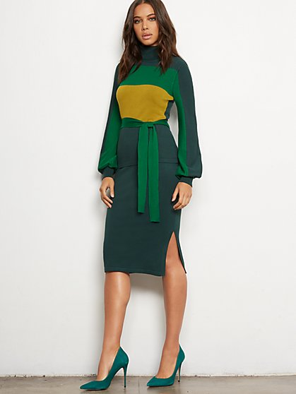 Green Sweater Pencil Skirt - 7th Avenue - New York & Company
