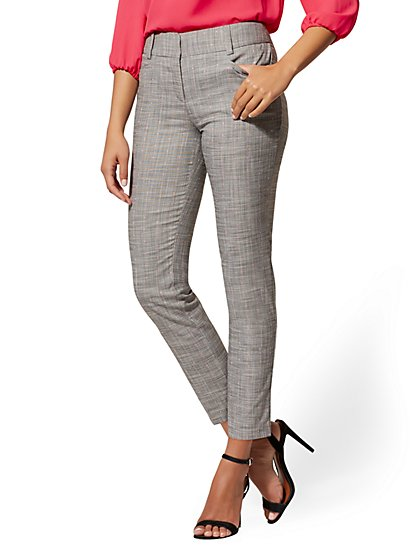 Grey Ankle Pant - Modern Fit - 7th Avenue - New York & Company