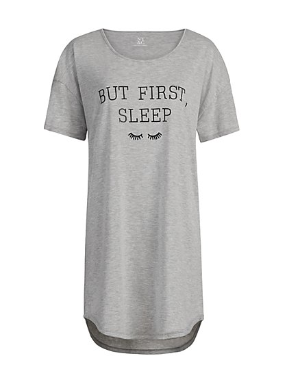 "Grey ""But First Sleep"" Sleep Dress - New York & Company"