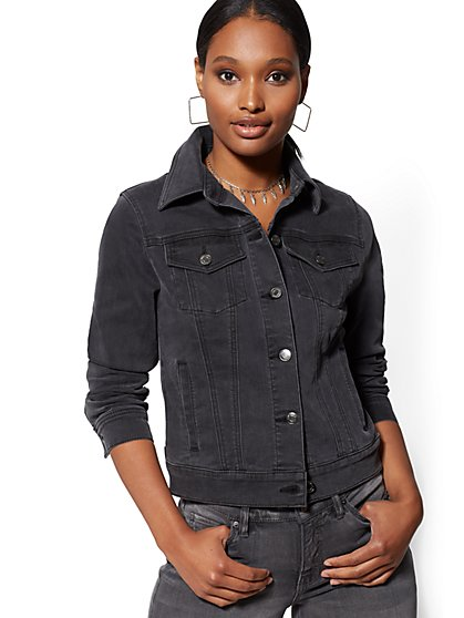 Grey Denim Jacket - New York & Company