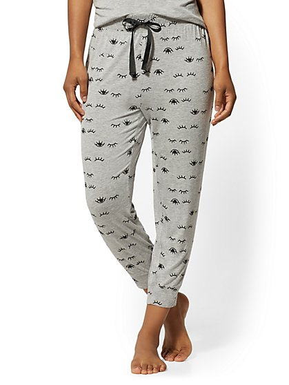 Grey Lashes-Print Pajama Pant - New York & Company