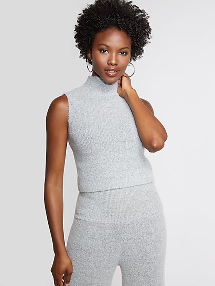 Grey Mock-Neck Sweater - Gabrielle Union Collection - New York & Company