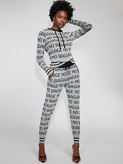 "Grey ""No Baggage"" Jogger Pant - Gabrielle Union Collection - New York & Company"