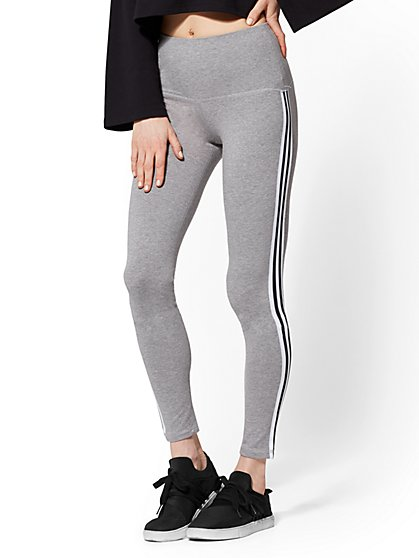 Grey Side-Stripe Legging - Soho Street - New York & Company