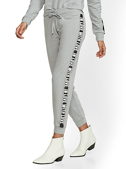 Grey Stripe Jogger Pant - Soho Street - New York & Company