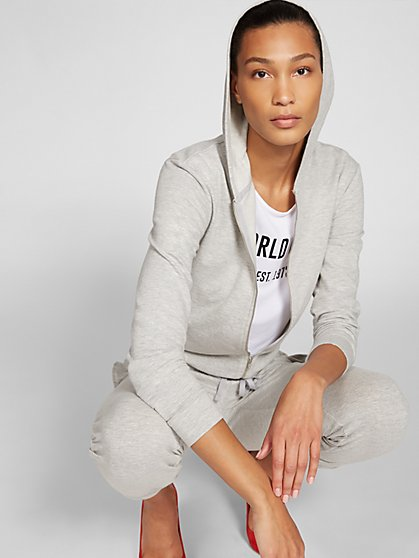 Grey Sweatshirt Jumpsuit - Gabrielle Union Collection - New York & Company