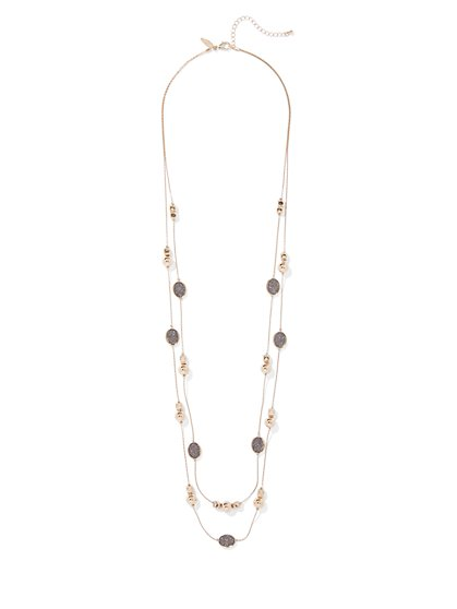 Gunmetal Illusion Necklace - New York & Company