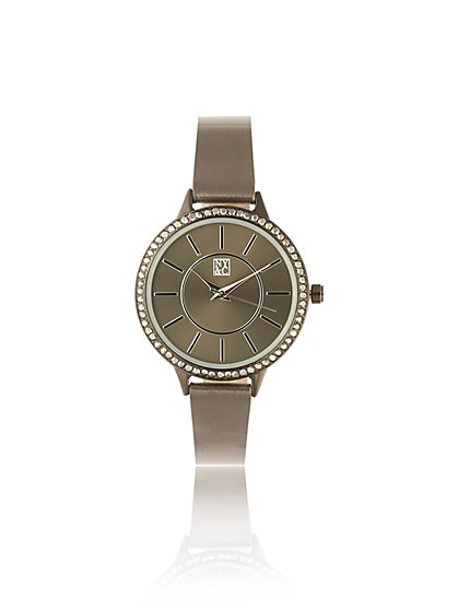 Gunmetal Pave Watch - New York & Company