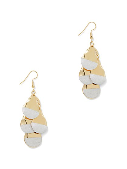 Half & Half Leaflet Statement Earring - New York & Company