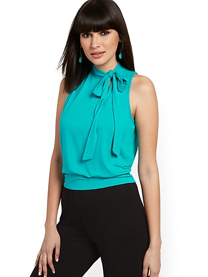 Halter Bow-Accent Top - NY&C Style System - New York & Company