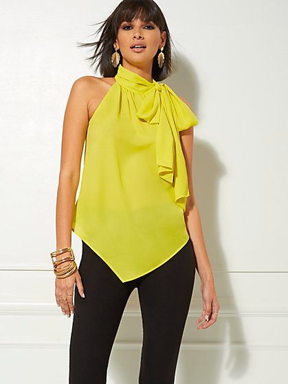 Halter Bow Blouse - New York & Company
