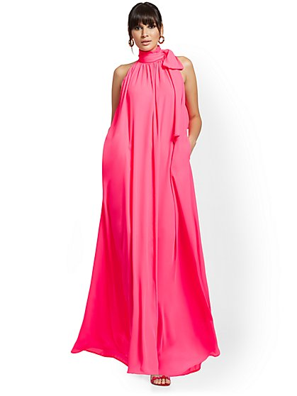 Halter Bow Maxi Dress - New York & Company