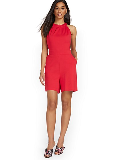 Halter Romper - City Knits - New York & Company