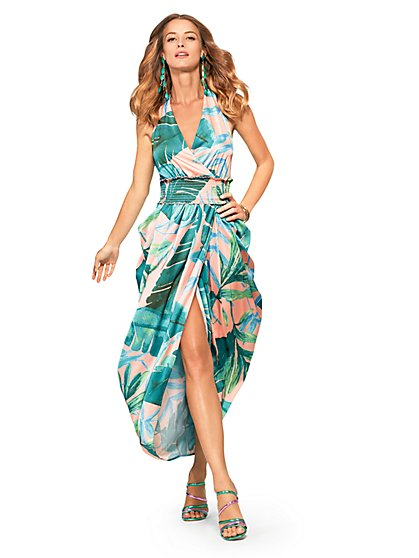 Halter Sarong Dress - New York & Company