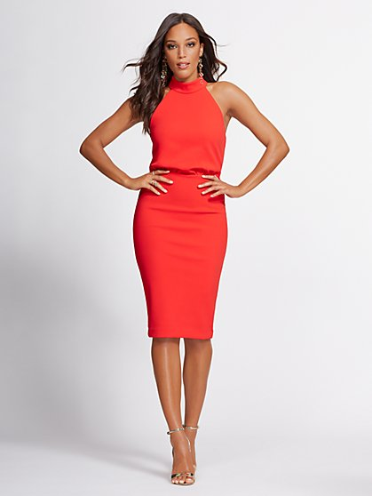 4a1977bd2dd Halter Sheath Dress - Gabrielle Union Collection - New York   Company ...