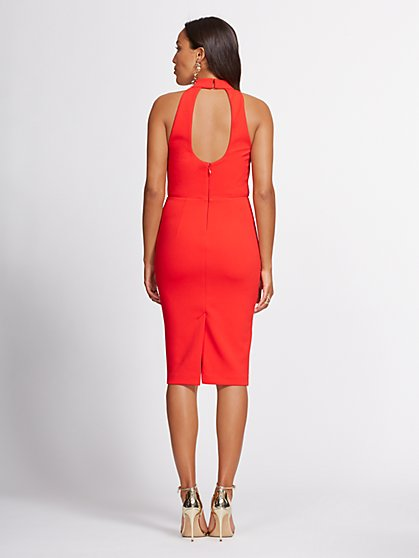 67cda9b325 ... Halter Sheath Dress - Gabrielle Union Collection - New York & Company  ...