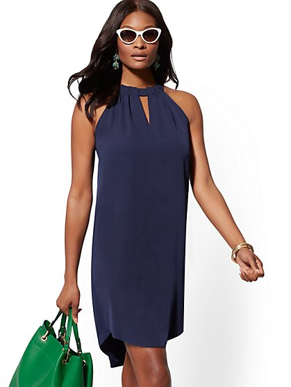 Halter Shift Dress - New York & Company