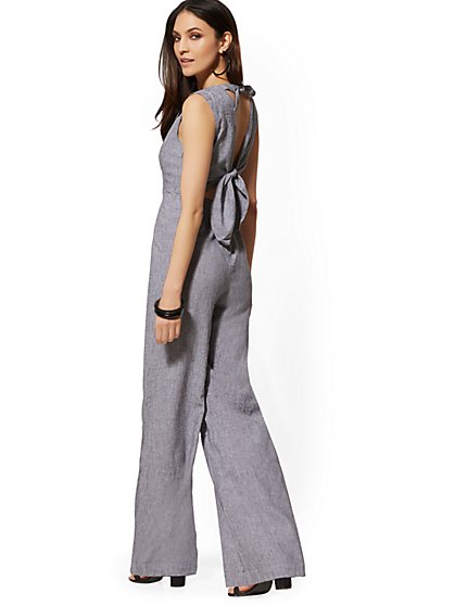 e341cd19a76 Halter Tie-Back Linen Jumpsuit - Soho Street - New York   Company