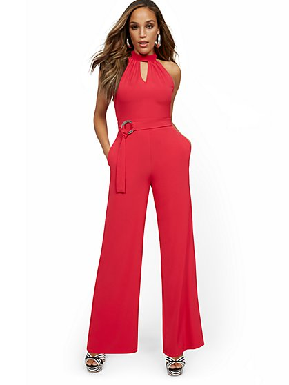 Halter Wide-Leg Jumpsuit - New York & Company
