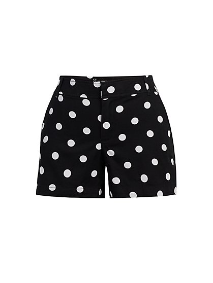 Hampton 4-Inch Short - Dot-Print - New York & Company