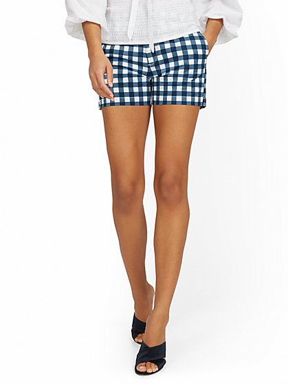 Hampton 4-Inch Short - Gingham - New York & Company