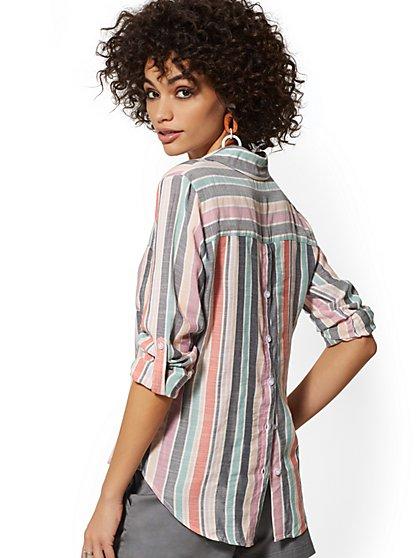 fac83f33f53 Hampton Wide-Stripe Shirt - Button Back - New York   Company ...