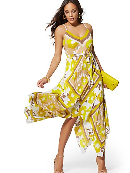 Handkerchief-Hem Maxi Dress - New York & Company