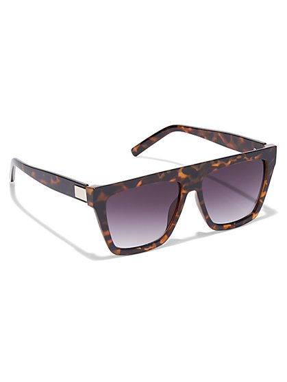 Hard-Line Square Sunglasses - New York & Company