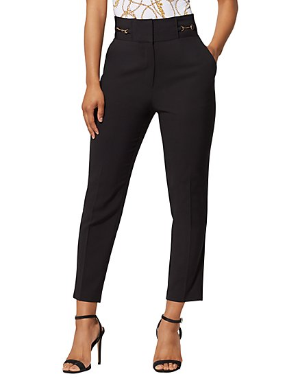 290451cdddfbb Hardware-Accent Ankle Pant - All-Season Stretch - 7th Avenue - New York ...