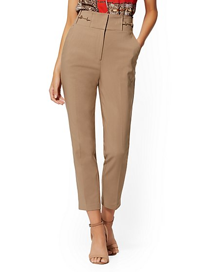 Hardware-Accent Ankle Pant - All-Season Stretch - 7th Avenue - New York & Company