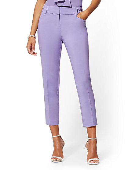 Hardware-Accent Ankle Pant - Modern Fit - All-Season Stretch - 7th Avenue - New York & Company