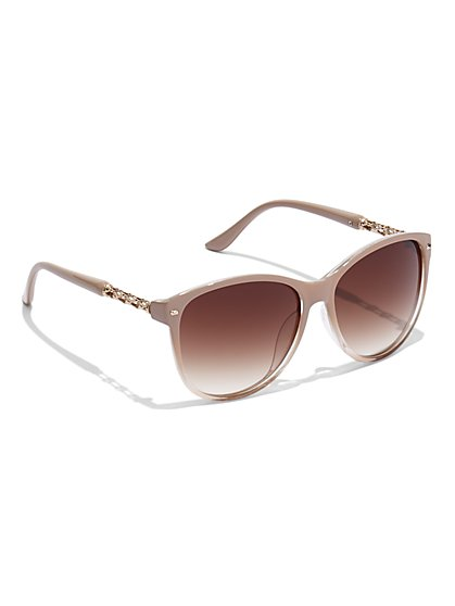 Hardware-Accent Sunglasses - New York & Company